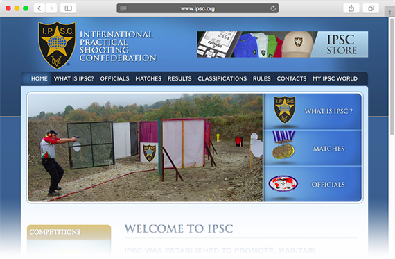 www.ipsc.org website screen shot